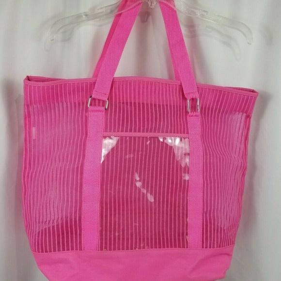 Target Handbags - Target Extra Large Pink Tote Beach Bag Canvas